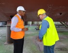 Commander Inspects Kikau Refit