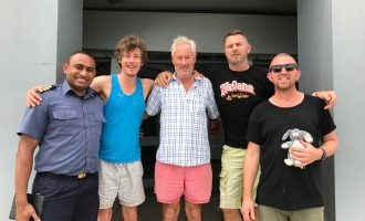 SAVED:Stranded NZ Businessmen In High Spirits After Their Rescue