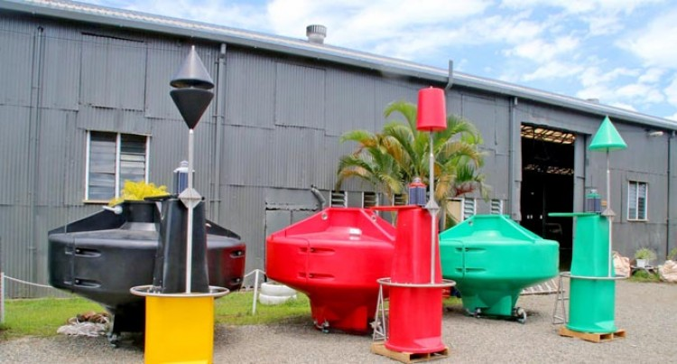 MSAF Installs New Navigation Buoys In Suva Harbour