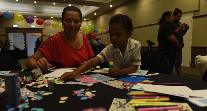 Alumeci Koroitamana with her son Taito Koroitamana at the Grand Pacific Hotel on July 25, 2017. Photo: Lusiana Tuimaisala