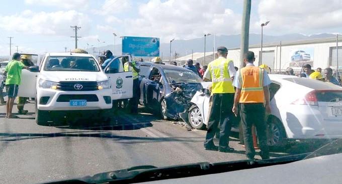 6 People Under Observation After 2-car Crash In Lautoka