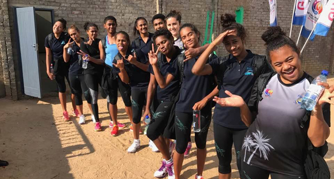 The Baby Pearls netball team at Botswana on July 6, 2017. Photo: Netball Fiji