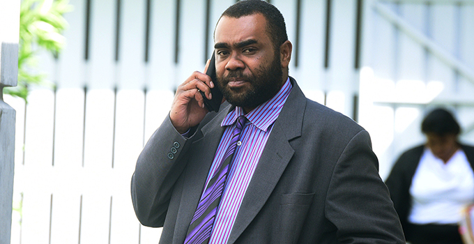 Opposition Member of Parliament Mosese Bulitavo outside court in Suva on July 20, 2017.  Photo: Jone Luvenitoga