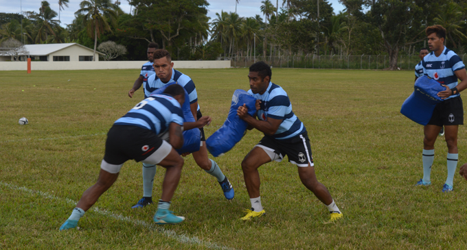 Vodafone Flying Fijians during training at the LDS Liahona High School ground in Nuku'alofa, Tonga on July 5, 2017. Photo: FRU Media