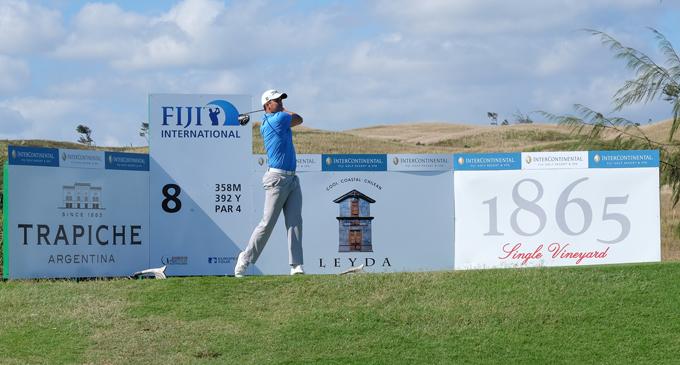 Dimi Papadatos competing at the Natadola Bay Championship Golf Course. Photo: Fiji International