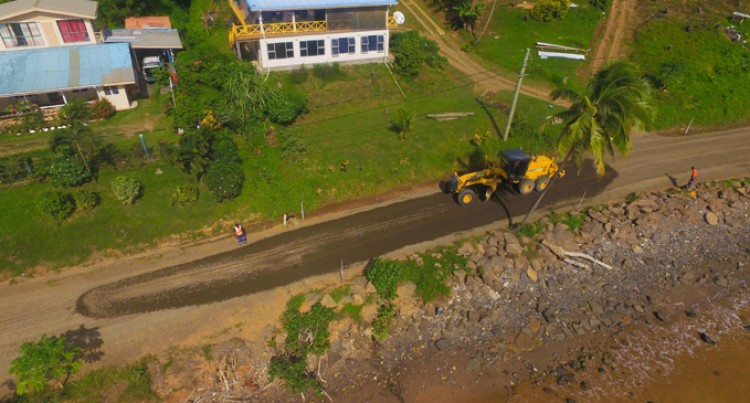 Sealing Works Underway On Lesiaceva Road, Savusavu