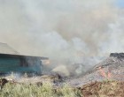 Stockpile Fire Threatens Property