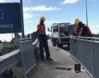 Work In Progress On Railings At Rewa Bridge