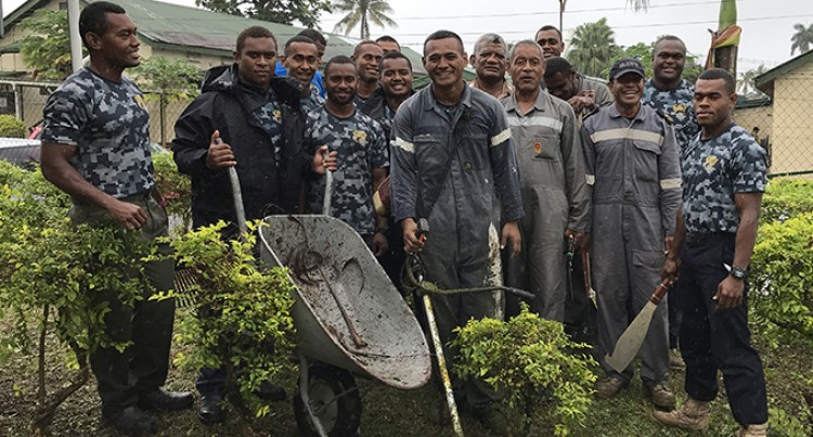 Fijian, NZ Navies in Community Work