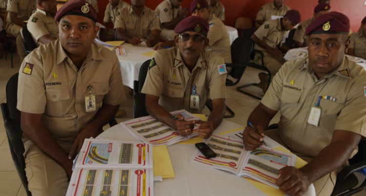 Corrections Drivers Take Defensive Driving Course