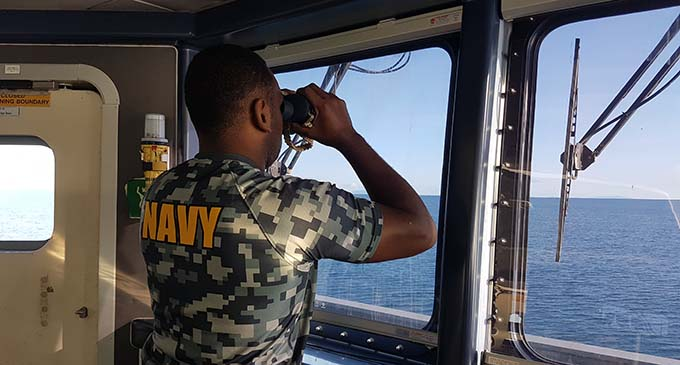 Ensign Josefa Navakaroko was one of four Republic of Fiji Navy sailors who trained recently on board the Royal New Zealand Navy's Inshore Patrol Vessel HMNZS Hawea. Photo: New Zealand Defence Force