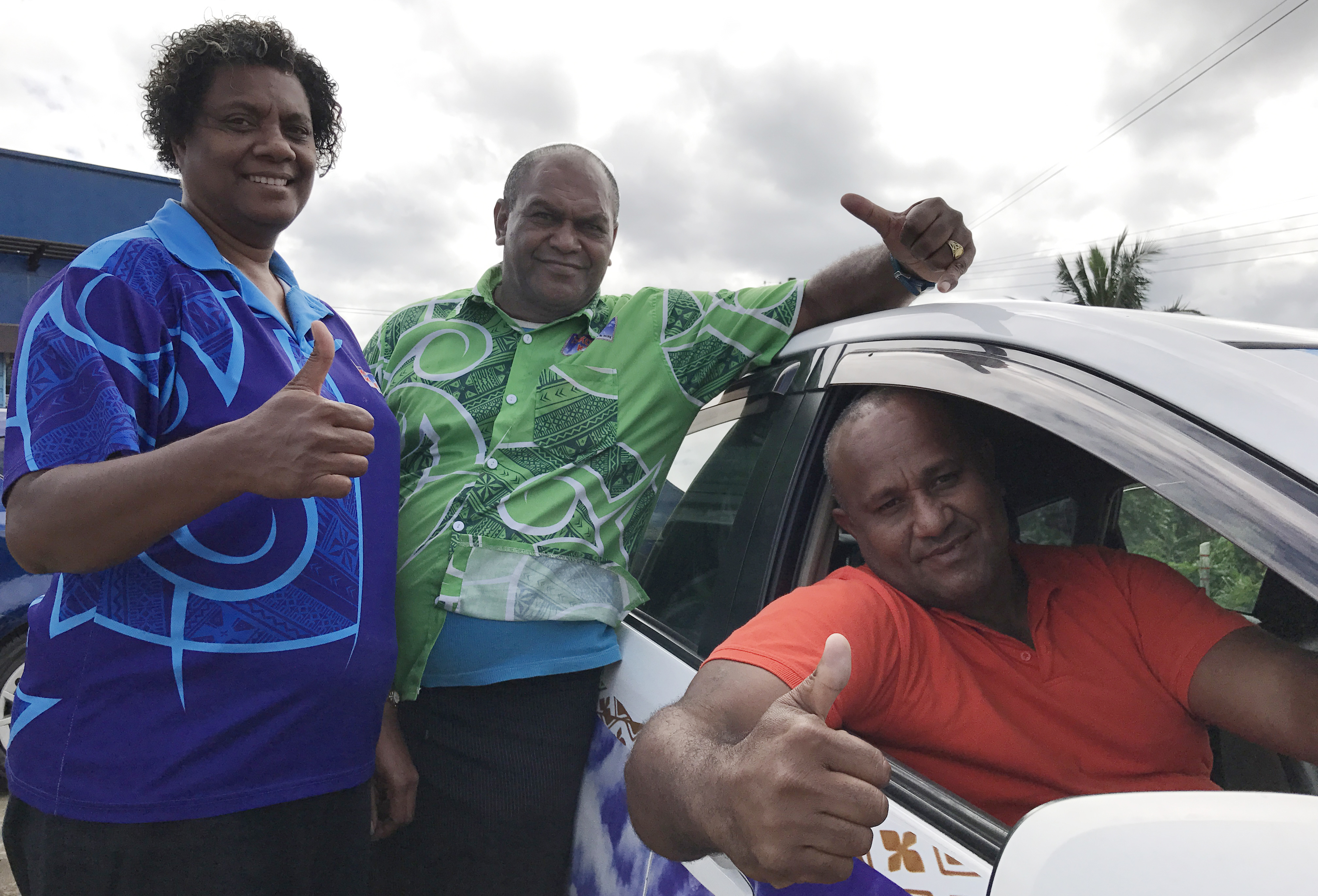 Government's announcement on lifting restriction on taxi permit registration in the 2017-2018 National Budget is well-received by Tiko Kece taxi drivers. Photo: Ronald Kumar