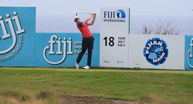 Todd Sinnott competing at the Natadola Bay Championship Golf Course. Photo: Fiji International