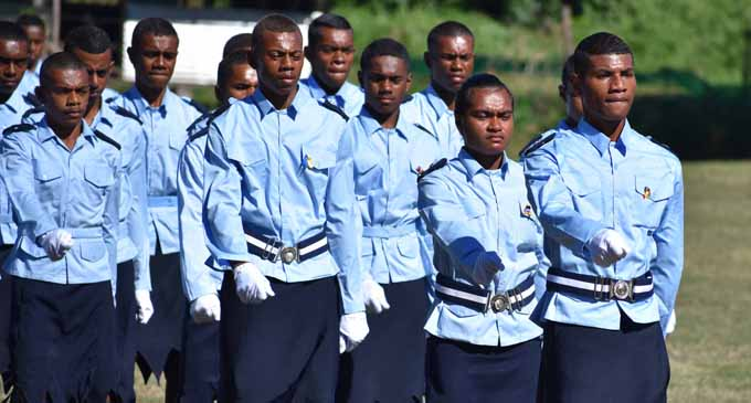 Cadets during the passing-out parade at Nabala Secondary School on July 6, 2017. Photo: Peni Drauna