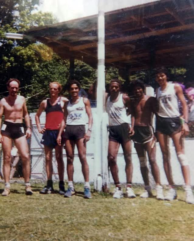 Striders Athletics Club runners in the 70s