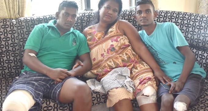 Accident victims reunite at home