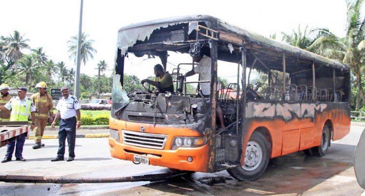 Bus Fire Drama