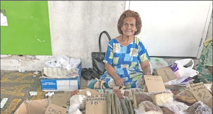 Grandmother Sells `Bila' At Market