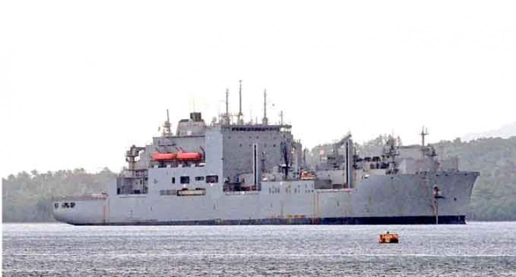 US Navy Vessel Here, Personnel onboard to Play Football Match with RFMF Personnel