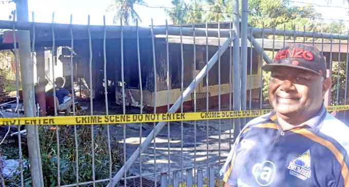 Vatiliai Kau, 52, a neighbour who witnessed the house fire incident which destroyed a three-bedroom concrete house. Photo: WAISEA NASOKIA