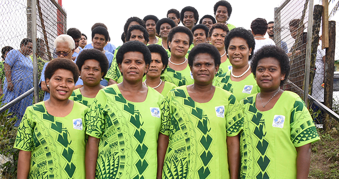 Nubukaluka Women Choir group during Methodist Church Festival of Praise chior competition at Furnival Park in Toorak, Suva on August 15, 2017. Photo: Ronald Kumar.