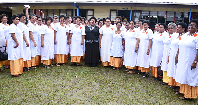 Kalabu Women Choir group during Methodist Church Festival of Praise chior competition at Furnival Park in Toorak, Suva on August 15, 2017. Photo: Ronald Kumar.
