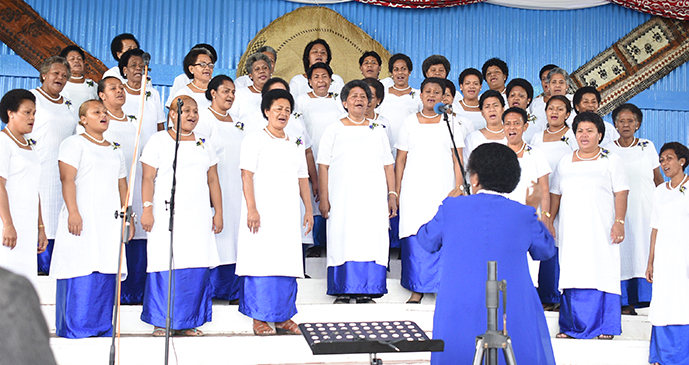 Saioni Women Choir group during Methodist Church Festival of Praise chior competition at Furnival Park in Toorak, Suva on August 15, 2017. Photo: Ronald Kumar.