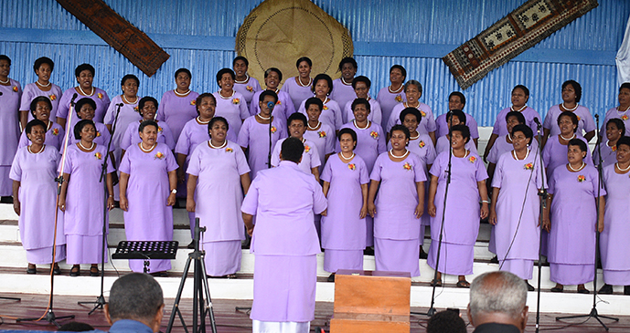 Baui Women Choir group during Methodist Church Festival of Praise chior competition at Furnival Park in Toorak, Suva on August 15, 2017. Photo: Ronald Kumar.