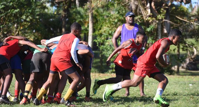 Suva Grammar School U14 team training in Veiuto on August 3, 2017. Photo: Jone Luvenitoga