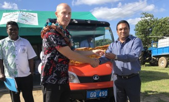 NZ High Commission Hands Over Kubota Rough Terrain Vehicle