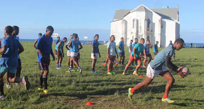 St John's College Under 18 rugby team training in Cawaci, Ovalau on August 3, 2017. Photo: Manhar Lal