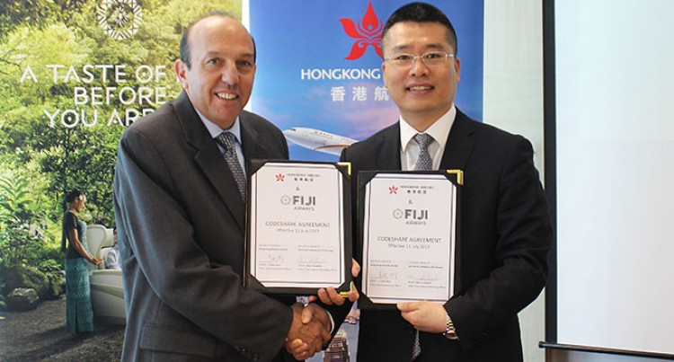 Hong Kong Airlines Signs Codeshare Agreement with Fiji Airways