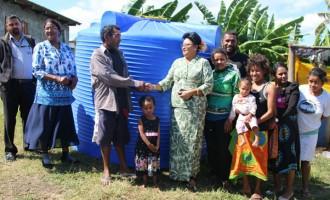 Bhatnagar Assists Navusolo's Family With A Water Tank