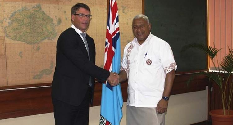 PM Bainimarama Meets Aust Ambassador for Environment Patrick Suckling