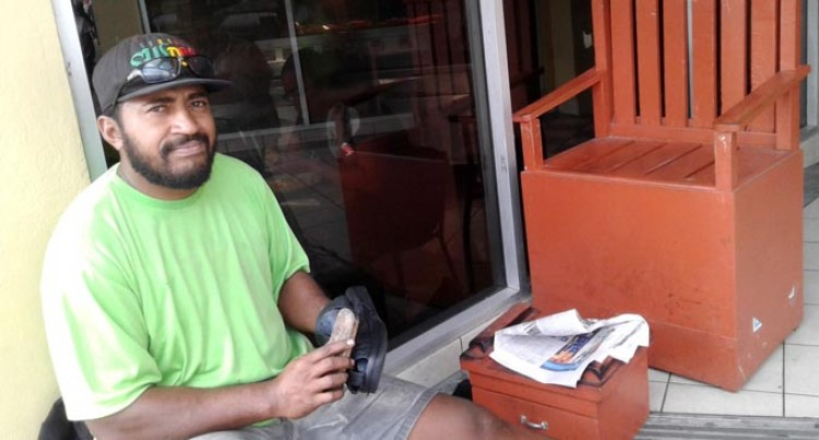 Rupeni Develops His Shoe Shine Business