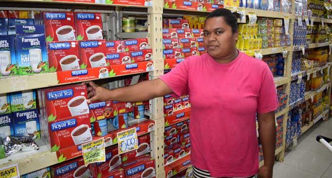Dibose Tivui at shop and Save supermarket in Labasa Photo: Peni Drauna