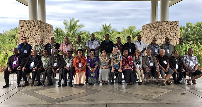 Members of Parliament with Speaker of Parliament Dr Jiko Luveni, faciliators and officials at the Fiji Marriott Resort Momi Bay. Photo: Parliament of Fiji