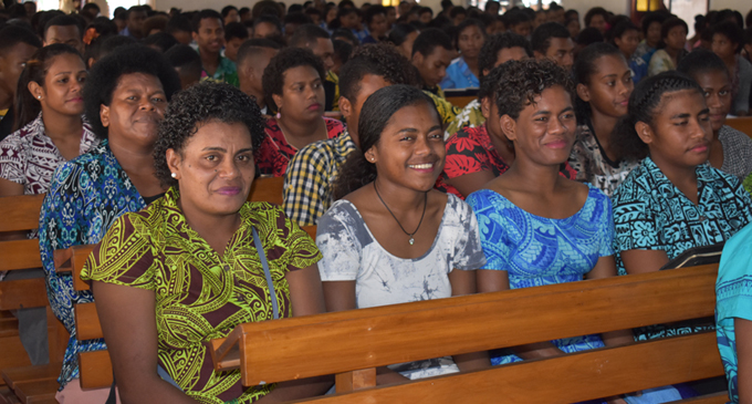 Netball players attend the welcoming service at the Nasea Methodist Church in Labasa on August 13, 2017. Photo: Shratika Singh