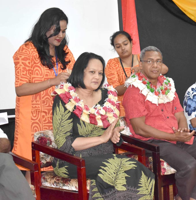 Minister for Health and Medical Services Rosy Akbar at the combined medical conference organised by the Sathya Sai Service Organisation of Fiji and Sai Medical Unit of Australia at the Sangam School of Nursing in Labasa on August 13, 2017. Photo: Shratika Singh