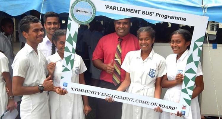 Parliament Parliament Bus  Visits Students, Teachers of Labasa College