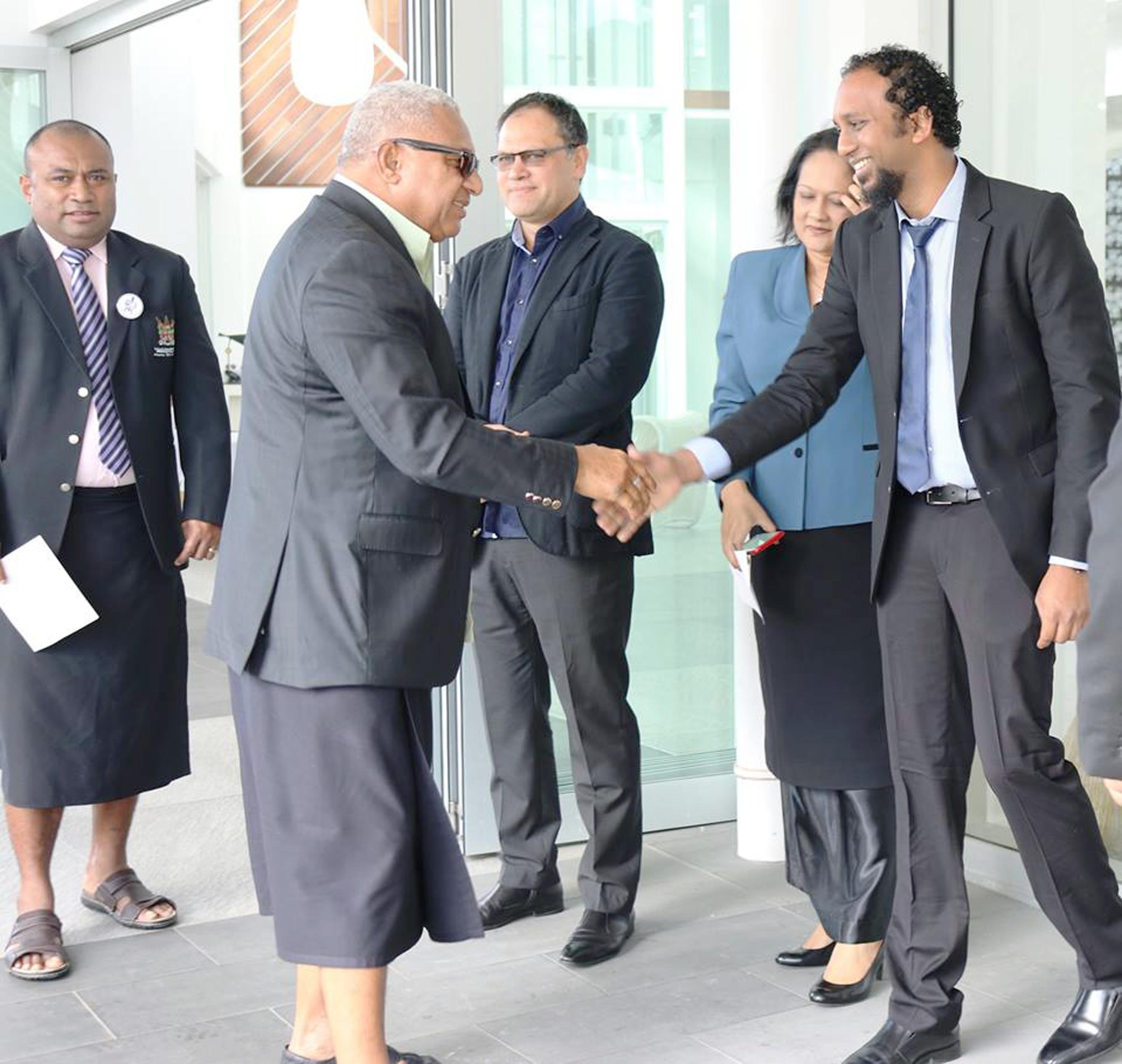 Prime Minister Voreqe Bainimarama meets medical professionals during the Fiji Medical Association 59th Annual Scientific Conference at the Pearl Resort in Pacific Harbour on September 8, 2017. Photo: DEPTFO News