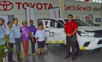 Asco Motors Hands Over Vehicle to Fiji Cancer Society