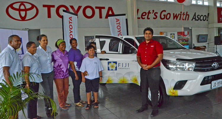 Asco Motors Hands Over Vehicle to Fiji Cancer Society