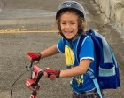Father, Son Cycle To School For Fitness, Cost Effectiveness