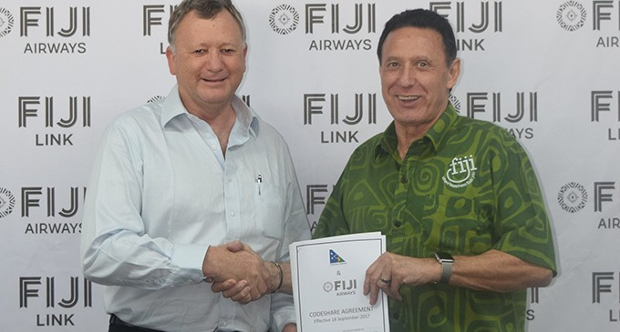 Fiji Airways and Solomon Airlines Sign Codeshare