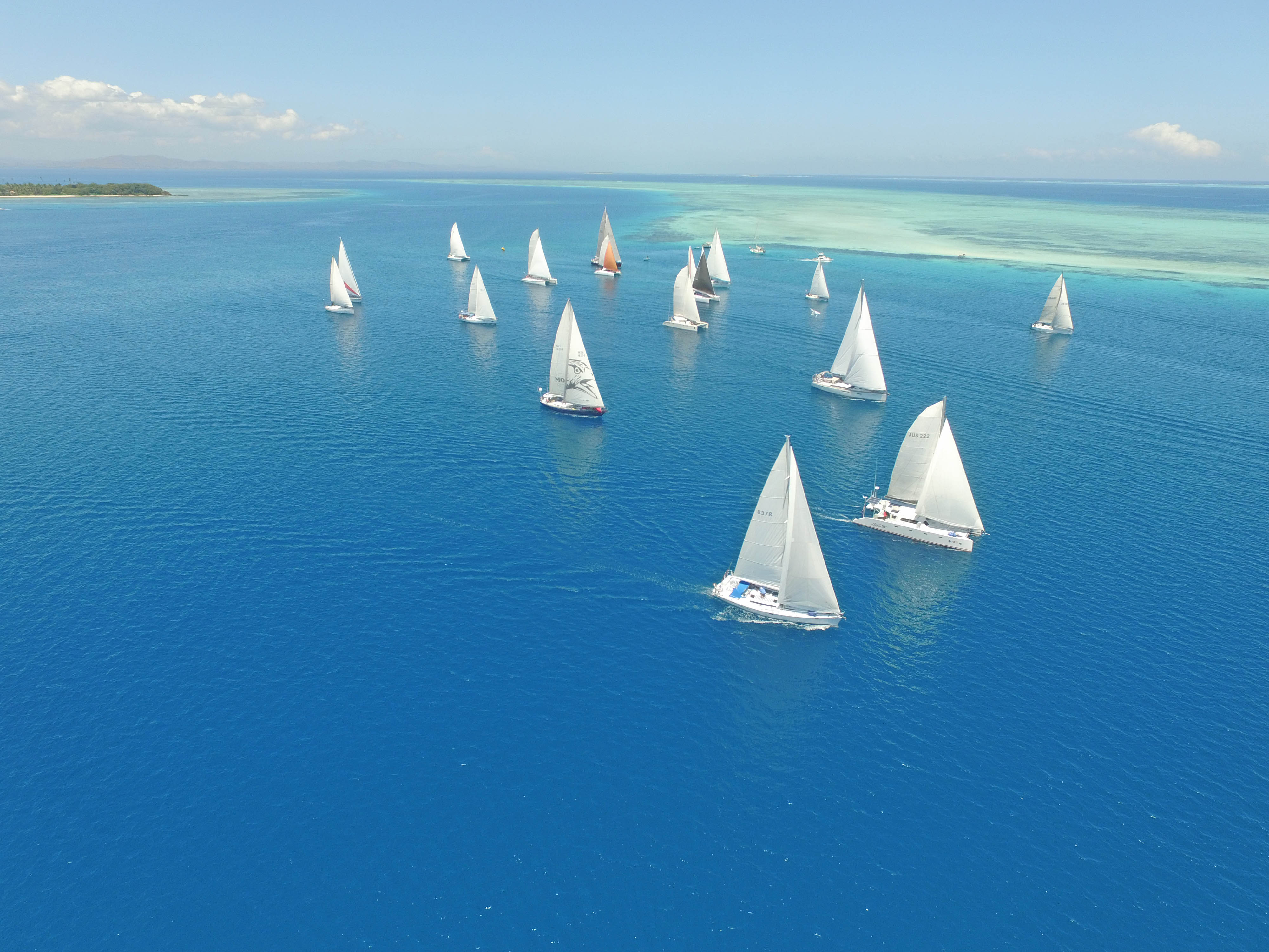 Yachts during the 2016 Musket Cove Fiji Regatta.