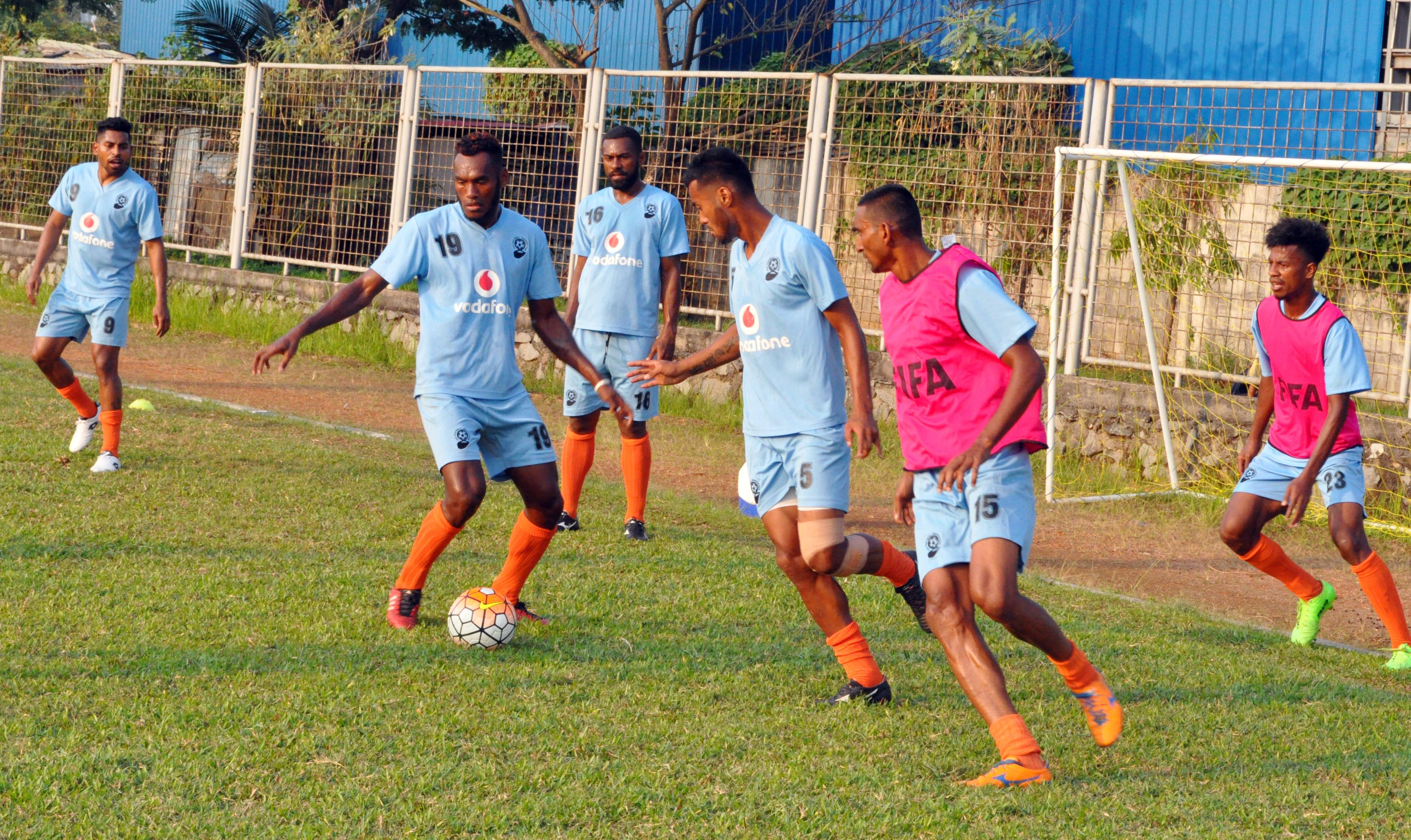 The Vodafone Fijian football team trainning in Indonesia on August 31, 2017. Photo: Vodafone Media