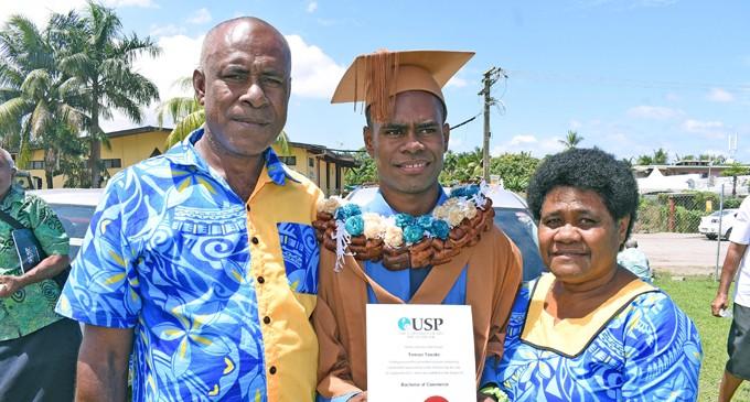 Tawake Graduates To Motivate His Siblings