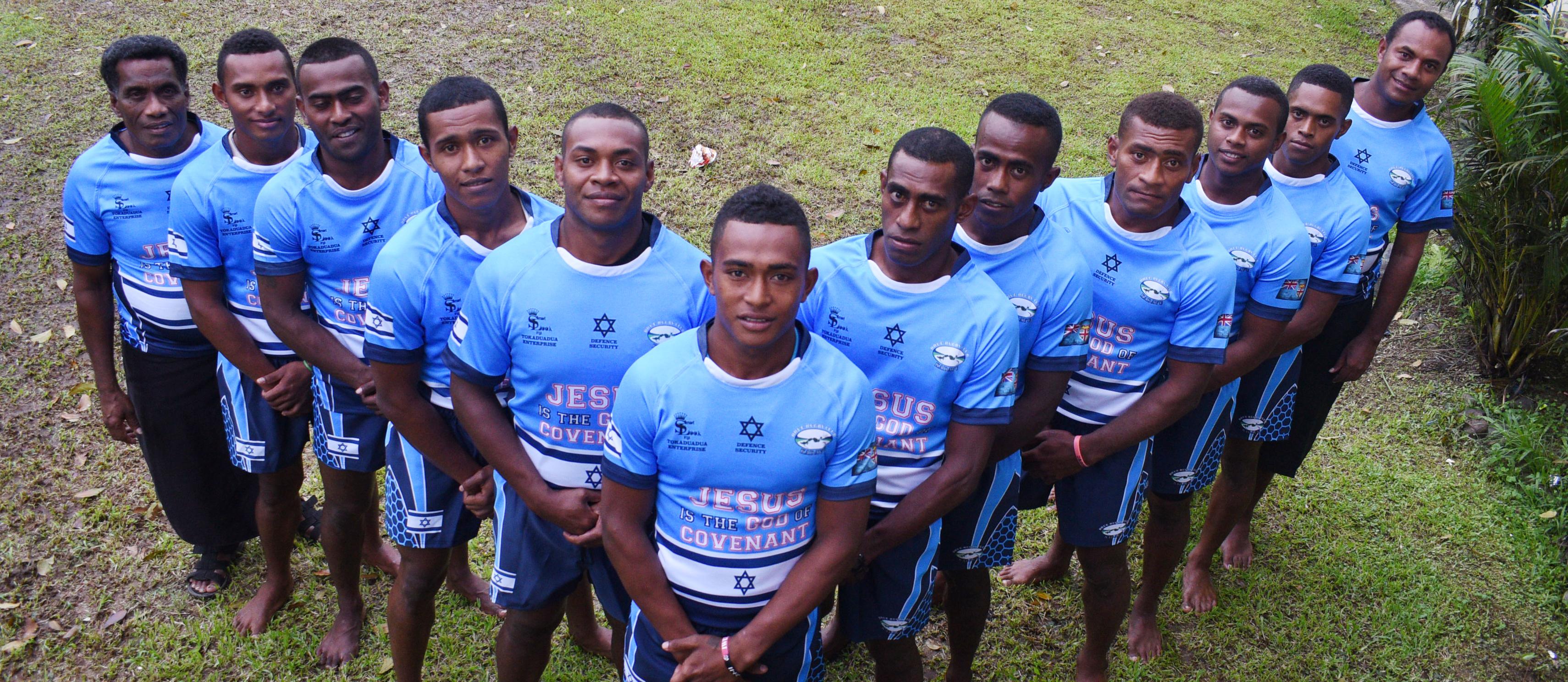 From left: Maciu Vakaloloma (official), Epeli Q, Epeli Litidamu, Peni Mataka, Apakuki Ceula, Peni Siganisucu, Vilikesa Bale,  Amenatave Waqa, Kelevi Toloi, Tevita Boi, Solomoni Lovoti, Samuela Ratini (coach) at Tamavua, Suva on September 12, 2017.  Photo: Ronald Kumar