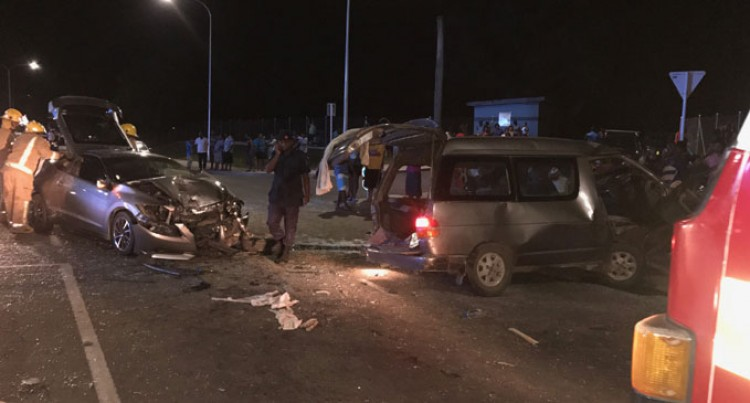 Four In Hospital After Three-car Smash